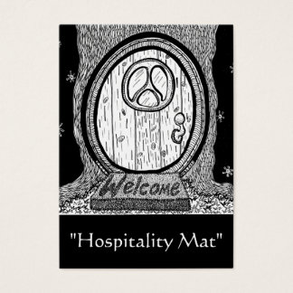 """Hospitality Mat"" ACEO Art Trading Card"