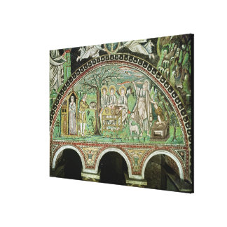 Hospitality of Abraham and the Sacrifice of Canvas Print