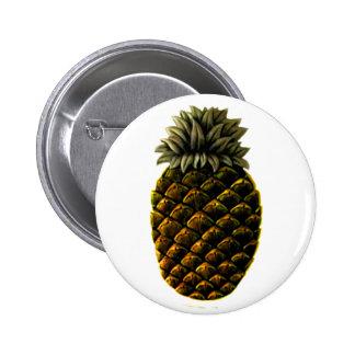 Hospitality Pineapple 4 yellow The MUSEUM Zazzle Pinback Button