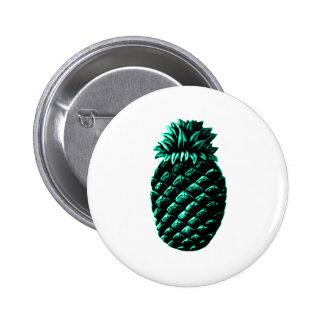 Hospitality Pineapple Cyan The MUSEUM Zazzle Gifts Pinback Button