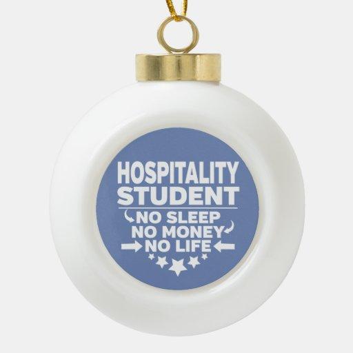 Hospitality Student No Life or Money Ceramic Ball Christmas Ornament
