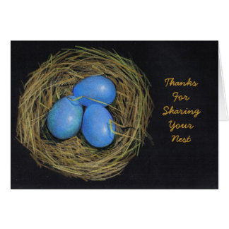 HOSPITALITY THANKS: BIRD EGGS, NEST: ART CARD
