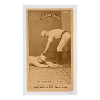 Hoss Radbourn Baseball 1887 Print