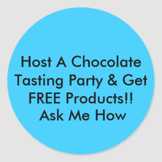 Host A Chocolate Tasting Party Stickers