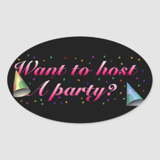 Host A Party Stickers