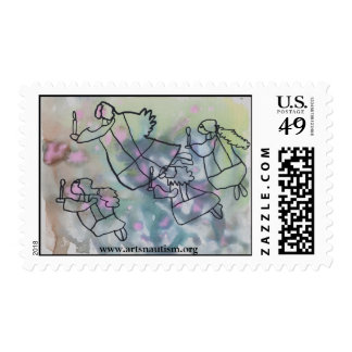 Host of Angels Postage Stamp