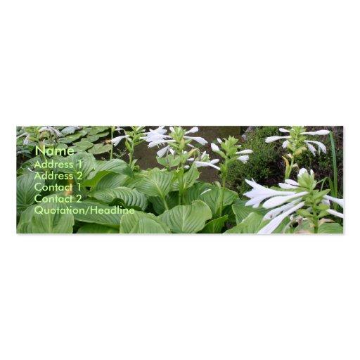 Hosta in a Zen Garden #2 Business Cards