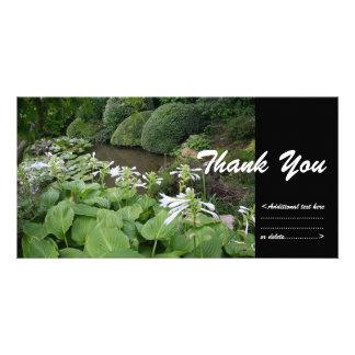 Hosta in a Zen Garden 2 Thank You Photo Card