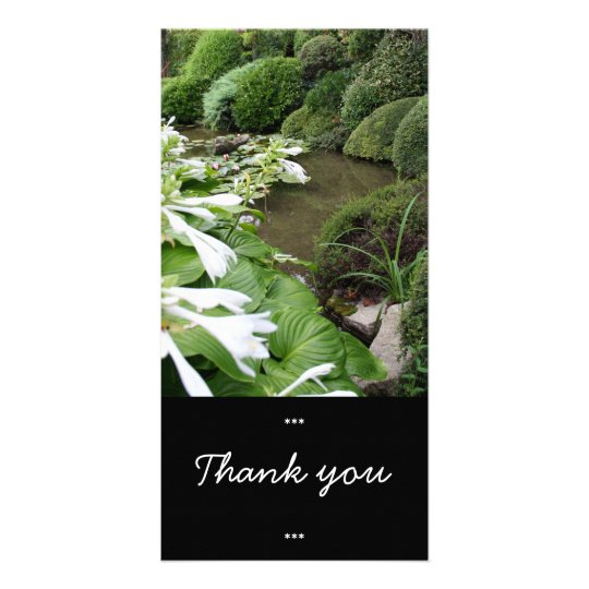 Hosta in a Zen Garden Thank You Photo Card