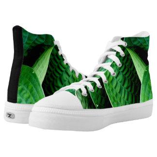 Hosta Leaves High-Top Sneakers