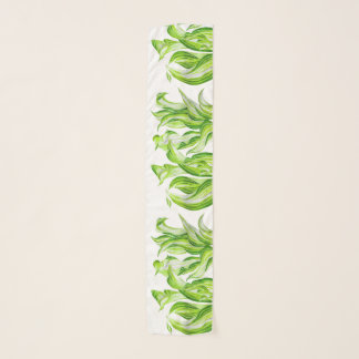 'Hosta with the Mosta' on a Chiffon Scarf