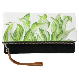 'Hosta with the Mosta' on a Fold-over Clutch