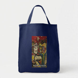HOSTAGE SITUATION GROCERY TOTE BAG
