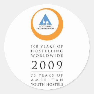 Hostelling Int Anniversary Logo Classic Round Sticker