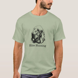 Hostel's Elite Hunting logo (type print) T-Shirt