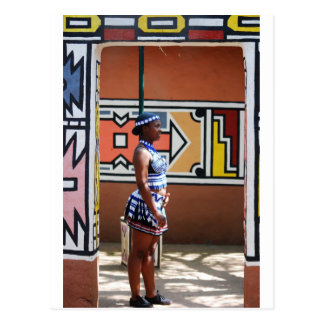 Hostess At Lesedi Postcard