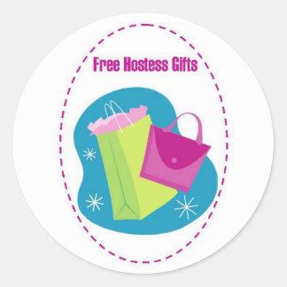 Hostess Gifts Classic Round Sticker