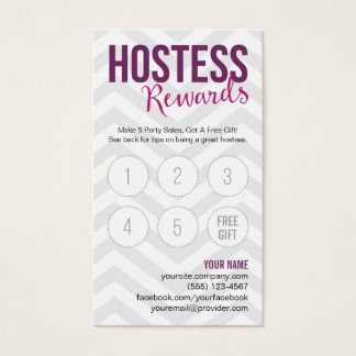 Hostess Rewards Online Party Tips Business Cards