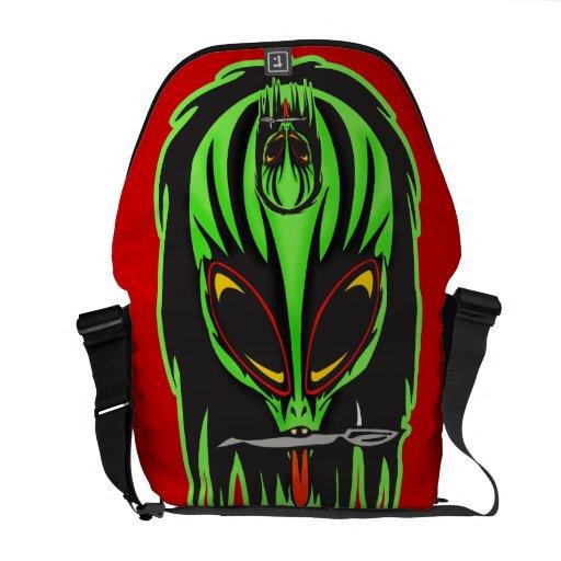 Hostile Alien Warrior Rickshaw Messenger Bag