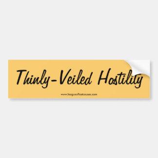 """""""Hostile"""" bumper sticker Car Bumper Sticker"""