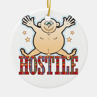 Hostile Fat Man Ceramic Ornament