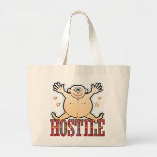 Hostile Fat Man Large Tote Bag