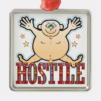 Hostile Fat Man Metal Ornament