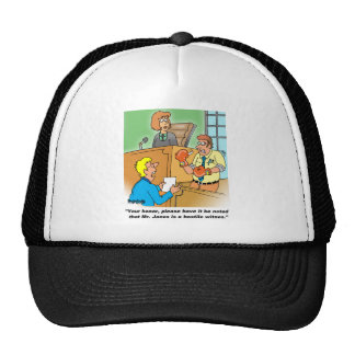 HOSTILE WITNESS TRUCKER HAT