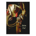 Hosting Western Themed Milestone Birthday Party 4.5x6.25 Paper Invitation Card