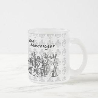 Hosts of Angels V2 10 Oz Frosted Glass Coffee Mug