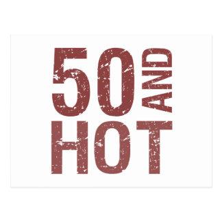 Hot 50th Birthday Postcard
