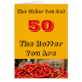 Hot 50th Birthday Wishes Card