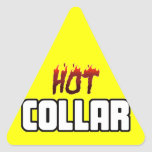 Hot Above The Collar Sticker