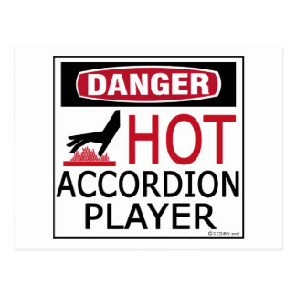 Hot Accordion Player Post Cards