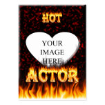 Hot Actor fire and red marble Business Cards