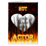 Hot Actor fire and red marble Greeting Card
