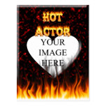 Hot Actor fire and red marble Post Cards