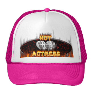 Hot actress fire and flames hat