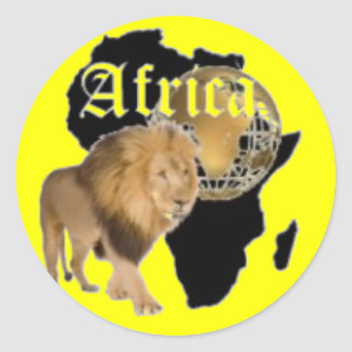 """Hot  """"Africa"""" Flag T-shirt,  And Etc ( Classic Round Sticker"""