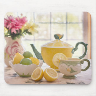 Hot Afternoon Tea with Fresh Lemons Mouse Pad