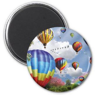 Hot air ball remunerations magnet