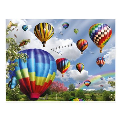 Hot air ball remunerations postcard