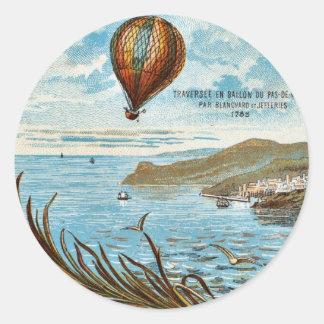 Hot Air Ballon Artwork Classic Round Sticker
