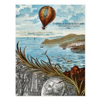Hot Air Ballon Artwork Postcard