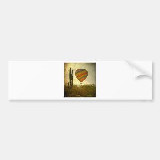 Hot Air Ballon Flight Over the Southwest Desert Bumper Stickers