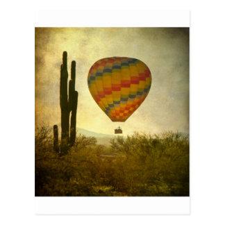Hot Air Ballon Flight Over the Southwest Desert Postcard