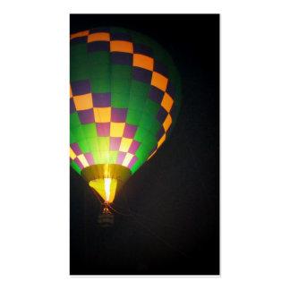 Hot Air ballon/ Globo de Aire Plantilla De Tarjeta De Visita