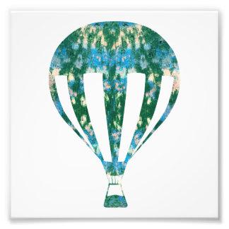 Hot Air Ballon | Sea Wall Graffiti Photography Art Photo Print