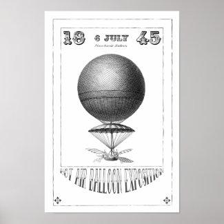 Hot Air Balloon Steampunk Canvas Art Print