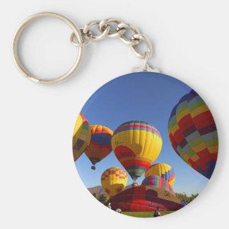 Hot Air Ballons Basic Round Button Keychain